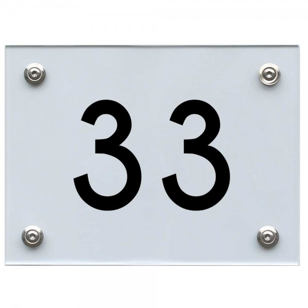 Hausnummernschild 33 schwarz