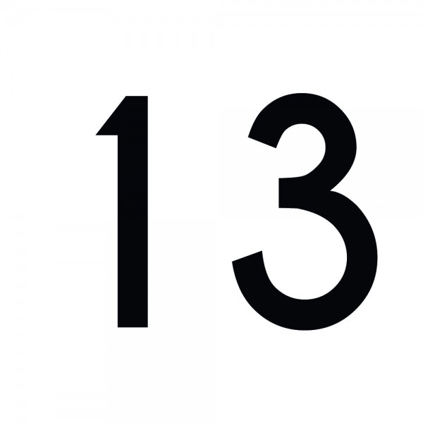 Zahlenaufkleber 13 schwarz