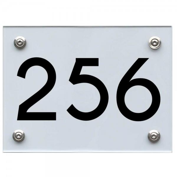 Hausnummernschild 256 schwarz