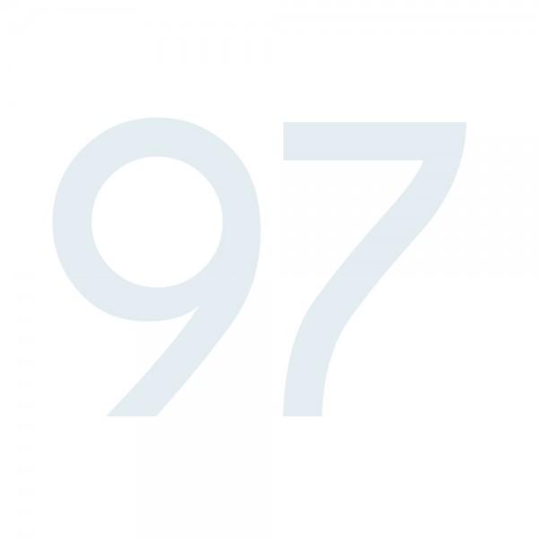 Zahlenaufkleber 97 weiß
