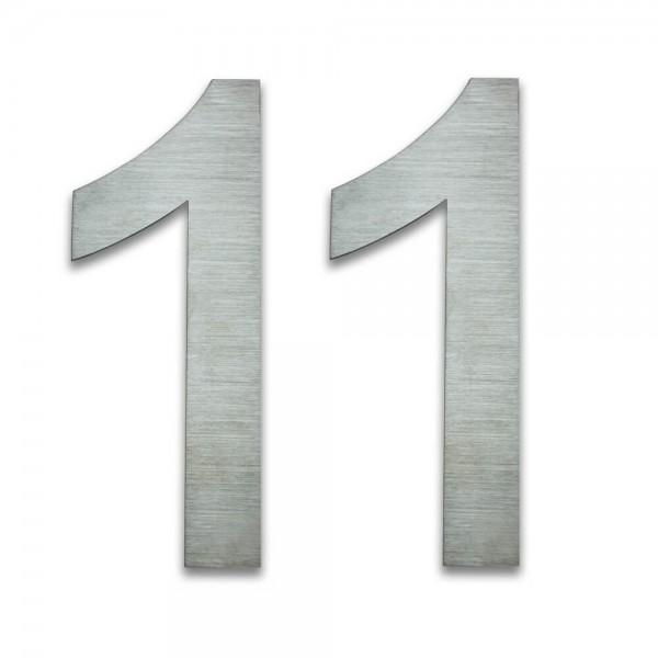 Hausnummer Edelstahl 11