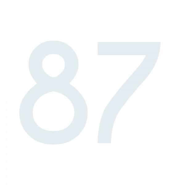 Zahlenaufkleber 87 weiß