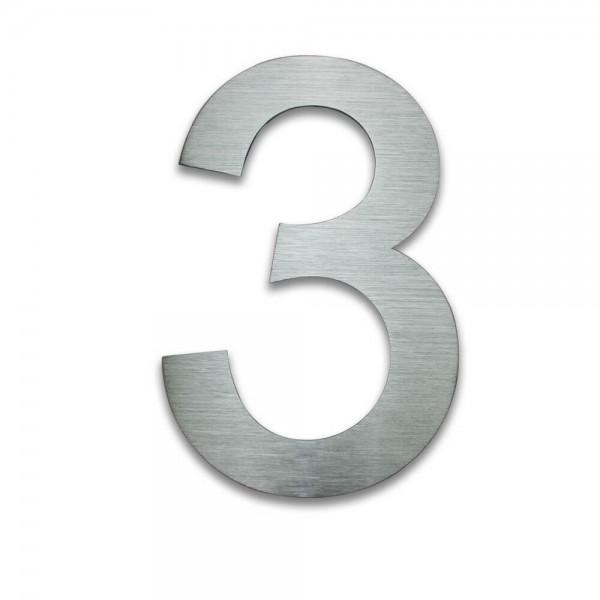 Hausnummer Edelstahl 3