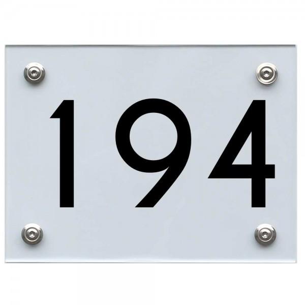 Hausnummernschild 194 schwarz