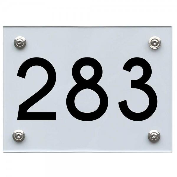 Hausnummernschild 283 schwarz