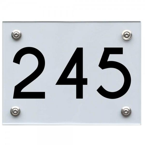 Hausnummernschild 245 schwarz