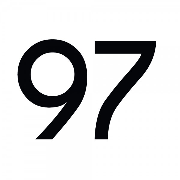 Zahlenaufkleber 97 schwarz