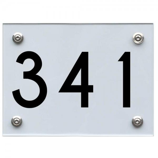 Hausnummernschild 341 schwarz