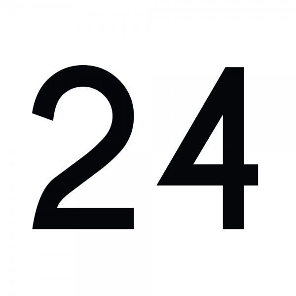 Zahlenaufkleber 24 schwarz