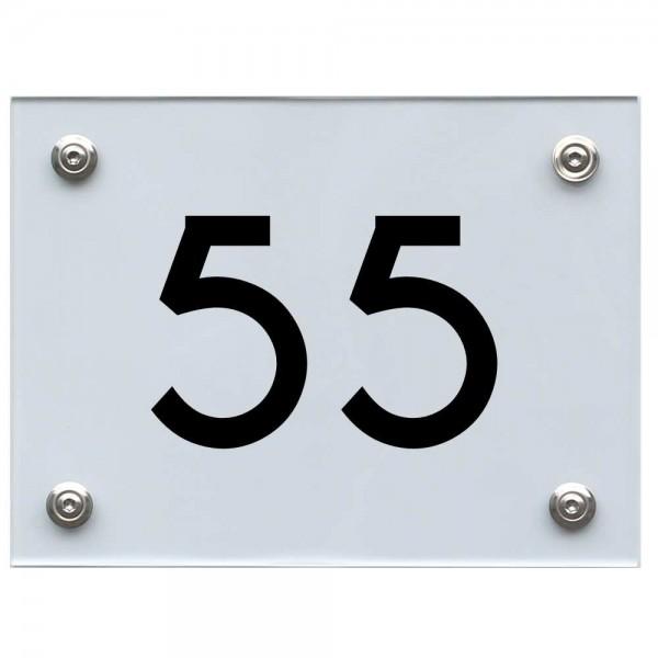 Hausnummernschild 55 schwarz