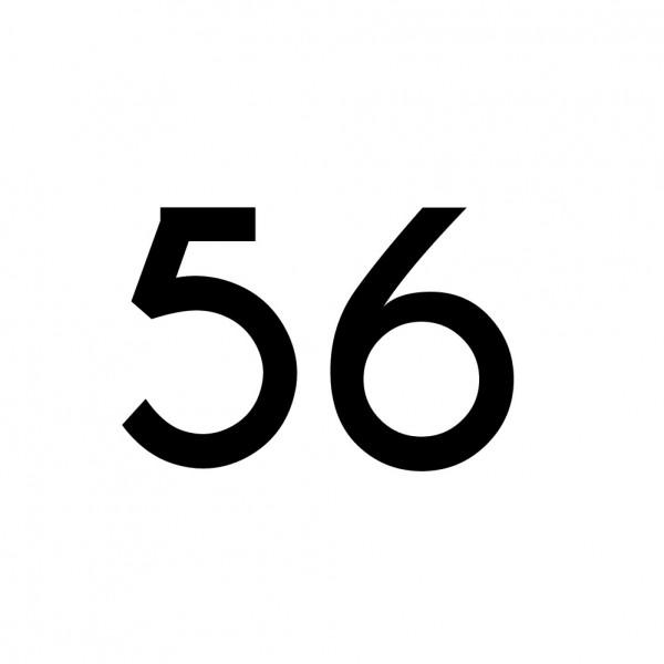 Hausnummer Aufkleber 56 schwarz