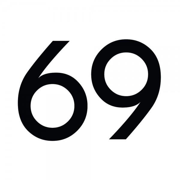 Zahlenaufkleber 69 schwarz