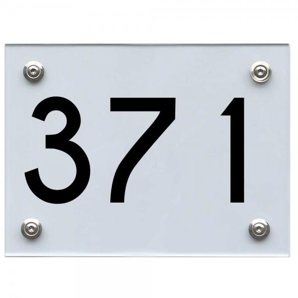 Hausnummernschild 371 schwarz
