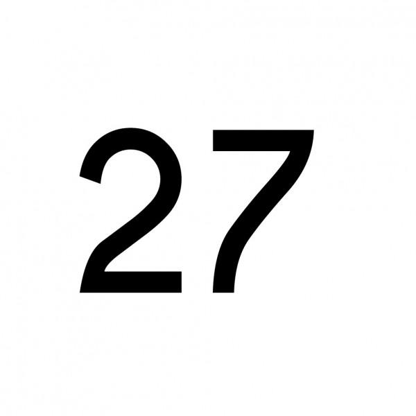 Hausnummer Aufkleber 27 schwarz