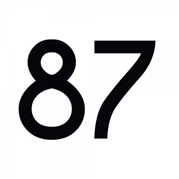 Zahlenaufkleber 87 schwarz