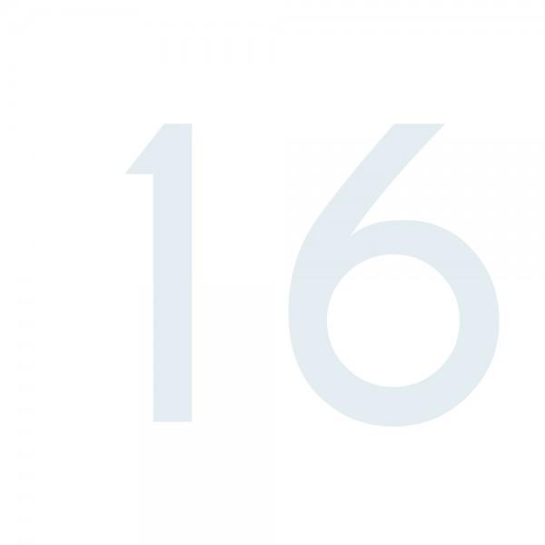 Zahlenaufkleber 16 weiß
