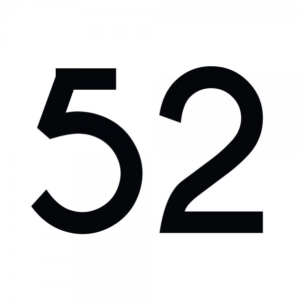 Zahlenaufkleber 52 schwarz