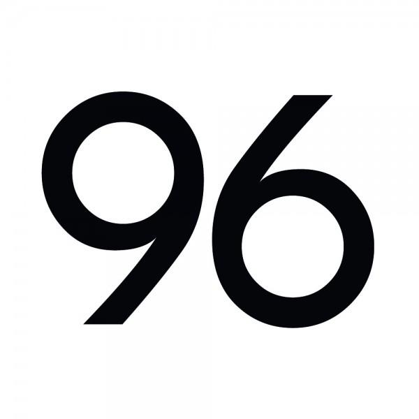 Zahlenaufkleber 96 schwarz