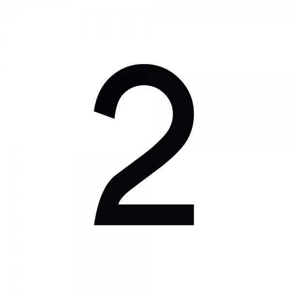 Zahlenaufkleber 2 schwarz