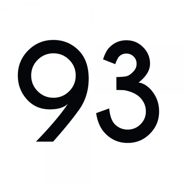 Zahlenaufkleber 93 schwarz