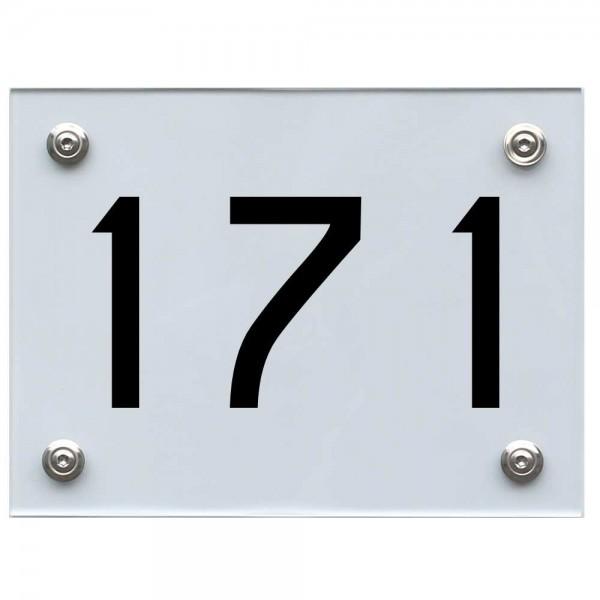 Hausnummernschild 171 schwarz