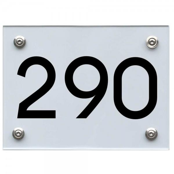Hausnummernschild 290 schwarz