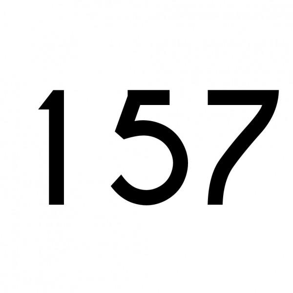 Hausnummer Aufkleber 157 schwarz