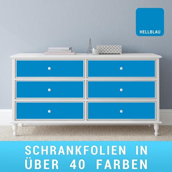 Schrankfolie hellblau