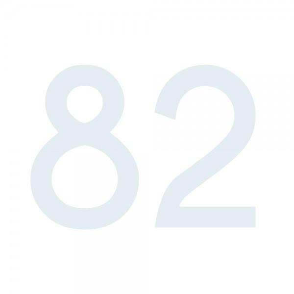 Zahlenaufkleber 82 weiß