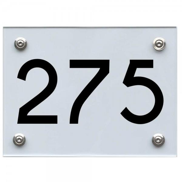 Hausnummernschild 275 schwarz