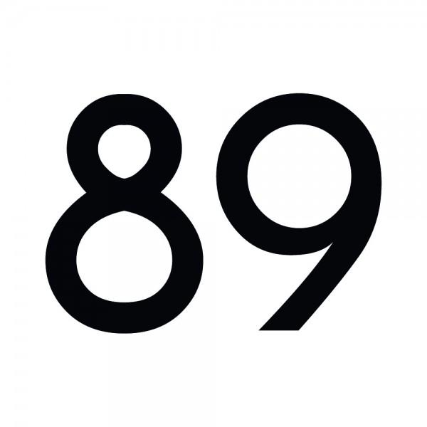Zahlenaufkleber 89 schwarz