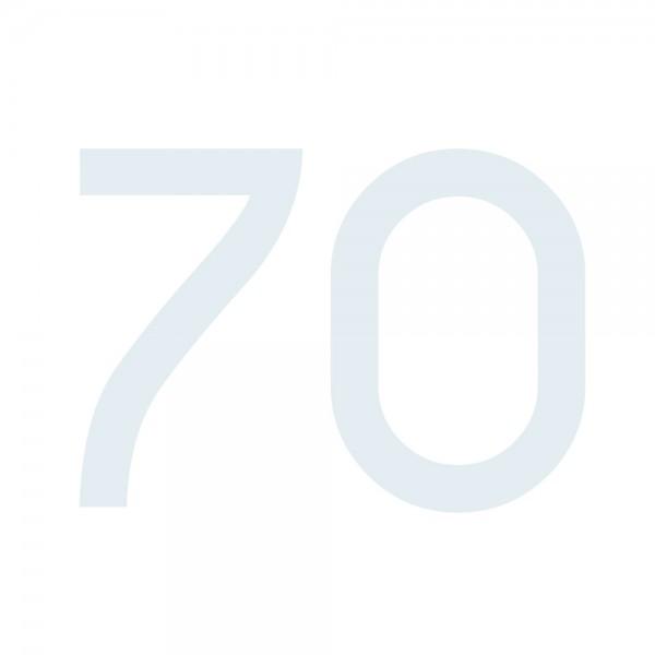 Zahlenaufkleber 70 weiß
