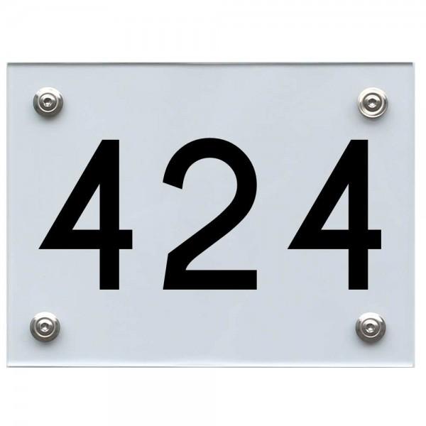 Hausnummernschild 424 schwarz