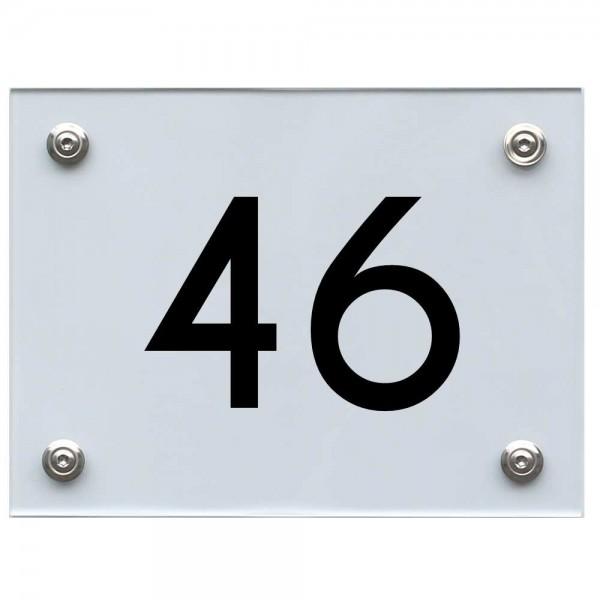 Hausnummernschild 46 schwarz