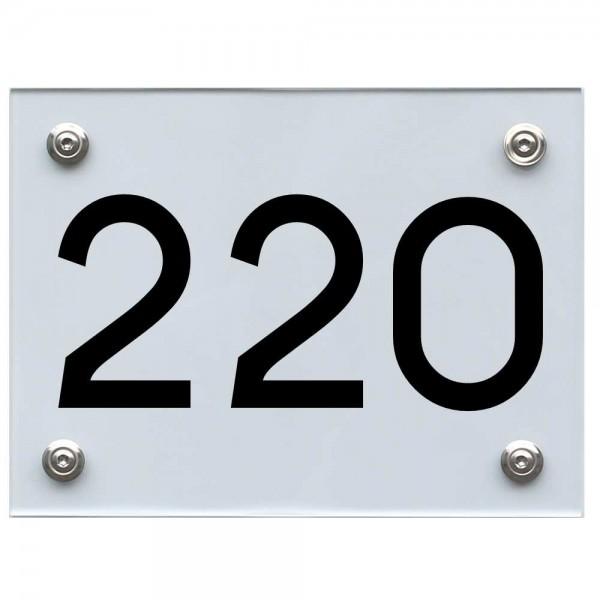 Hausnummernschild 220 schwarz