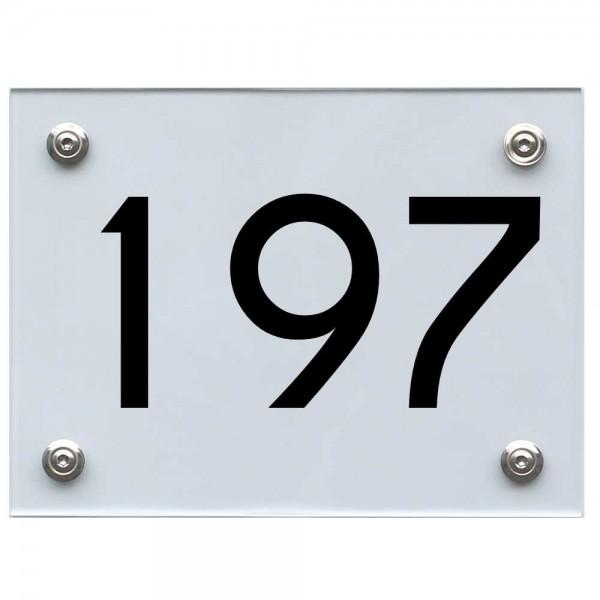 Hausnummernschild 197 schwarz