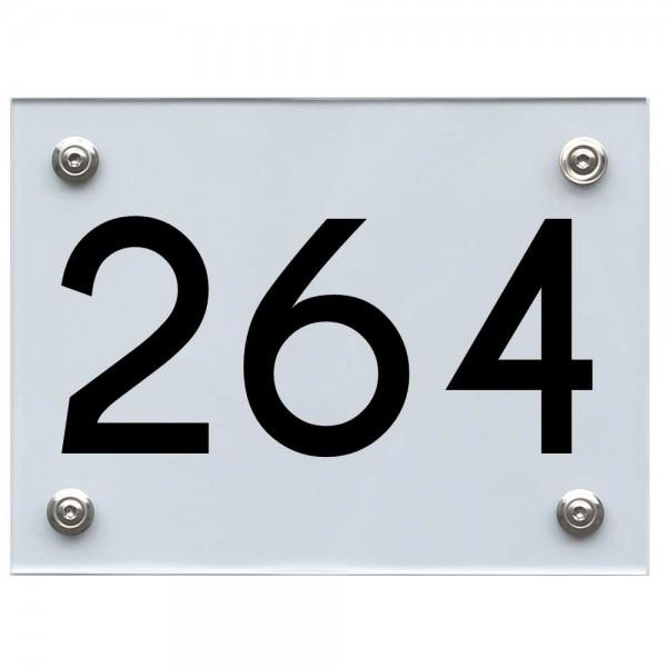 Hausnummernschild 264 schwarz