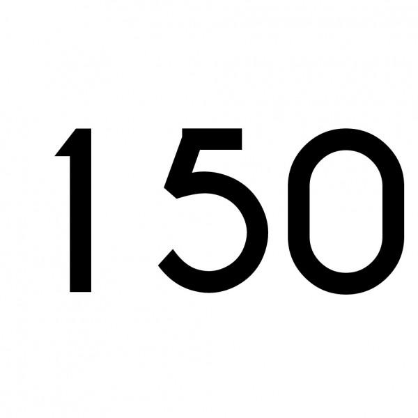 Hausnummer Aufkleber 150 schwarz