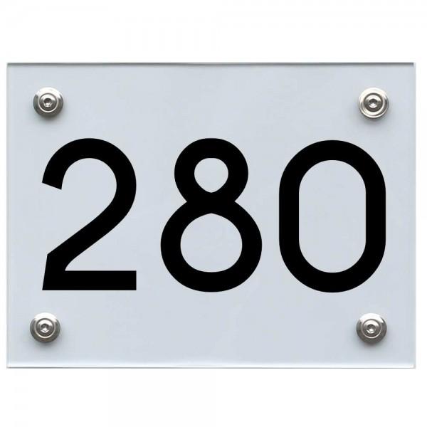 Hausnummernschild 280 schwarz