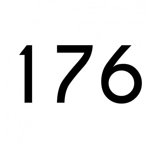 Hausnummer Aufkleber 176 schwarz