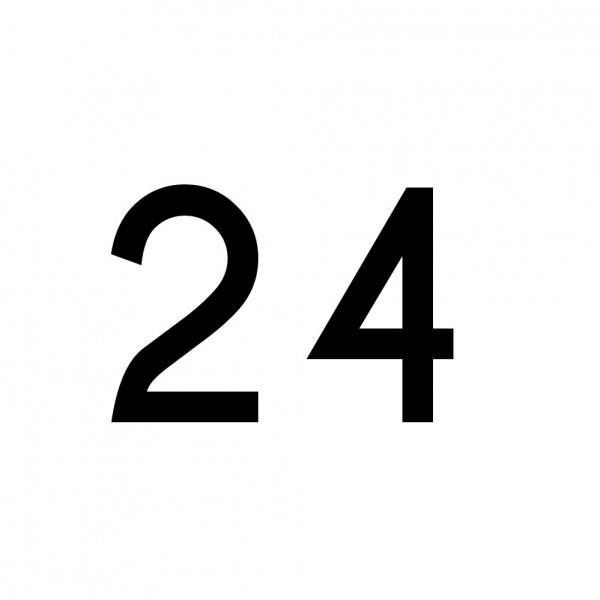 Hausnummer Aufkleber 24
