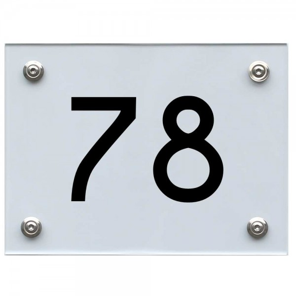 Hausnummernschild 78 schwarz