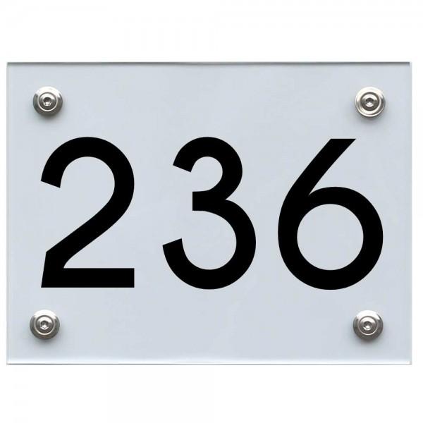 Hausnummernschild 236 schwarz