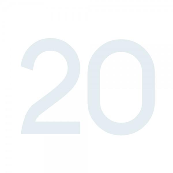 Zahlenaufkleber 20 weiß