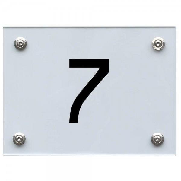 Hausnummernschild 7 schwarz