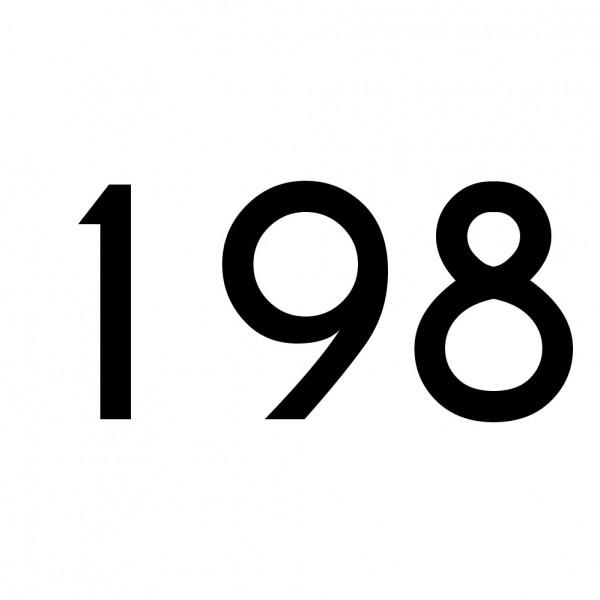 Hausnummer Aufkleber 198 schwarz