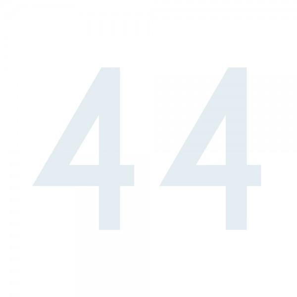 Zahlenaufkleber 44 weiß