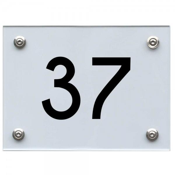 Hausnummernschild 37 schwarz