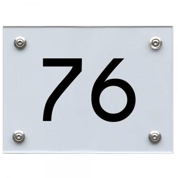 Hausnummernschild 76 schwarz