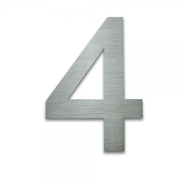 Hausnummer Edelstahl 4